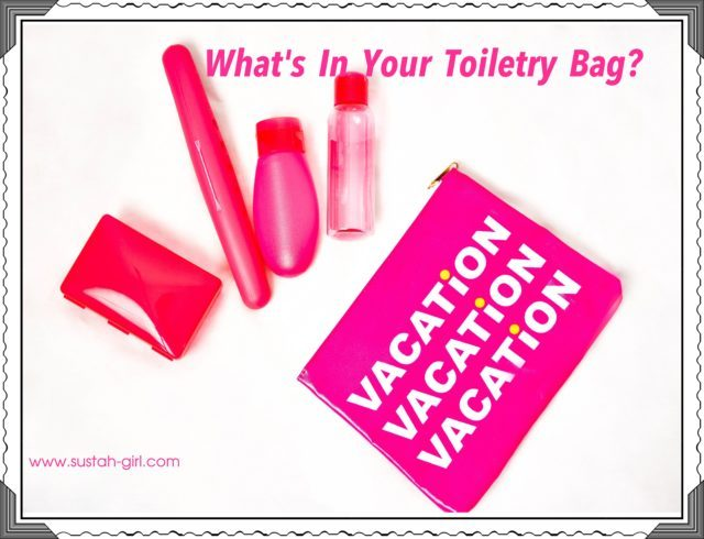 What's in your toiletry bag.
