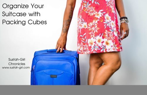 Organize your suitcase with packing cubes