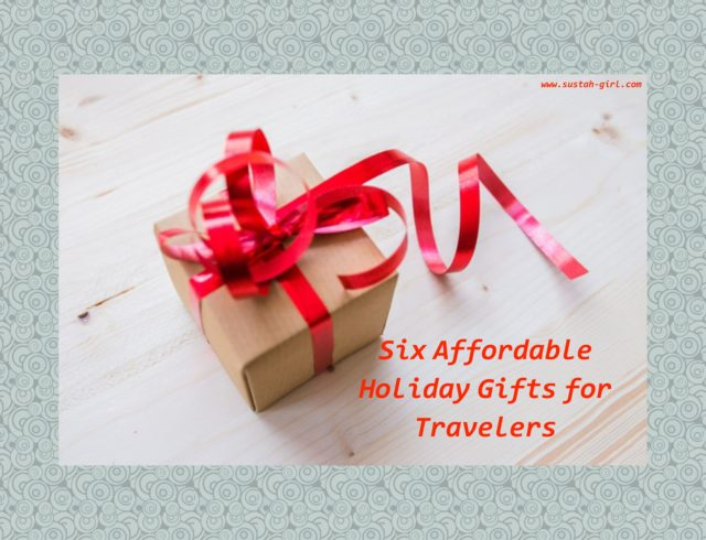 Six affordable holiday gifts for travelers sustah girl for Christmas gifts for travelers
