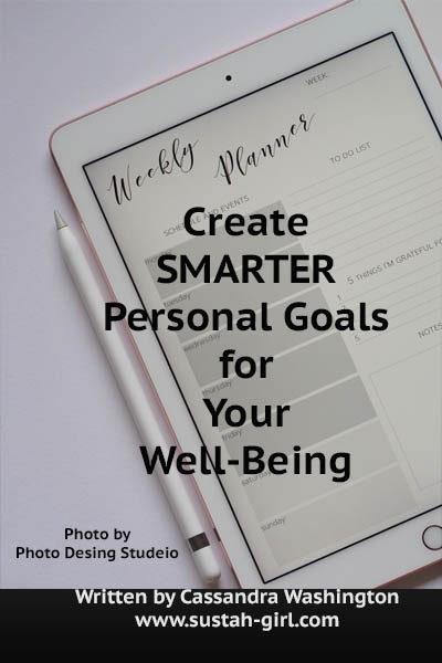 Create SMARTER Personal Goals